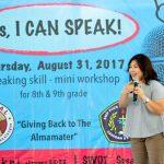 Foto Seminar I Can Speak di SMP PIUS Pekalongan